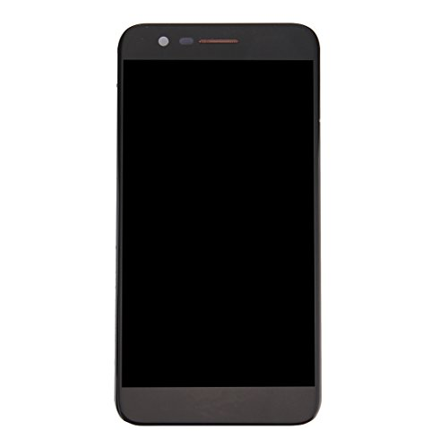 Zhangl Pantalla LCD del teléfono móvil para LG K10 2017 Pantalla LCD Pantalla táctil digitalizador con Marco Pantalla de CD (Color : Black)