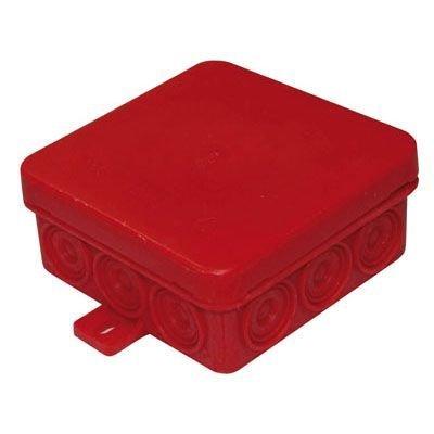 10 Stück - Verbindungsdose Gehäuse 85x 85x 37mm rot für Montage in der Wand/Decke
