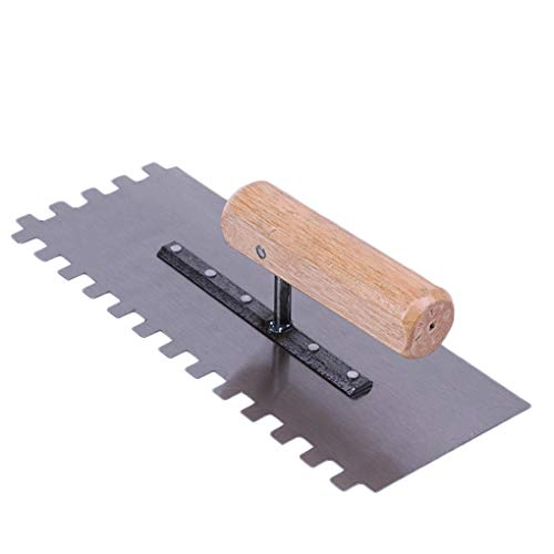 Chowcencen Cemento Margen Llana metálica lechada del azulejo con Herramienta de Mano Espátula Paleta de la construcción albañil