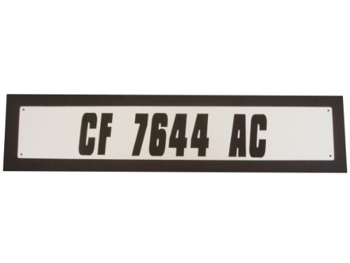 Hardline Products Solid White Plastic Boat Number Plate, Pair