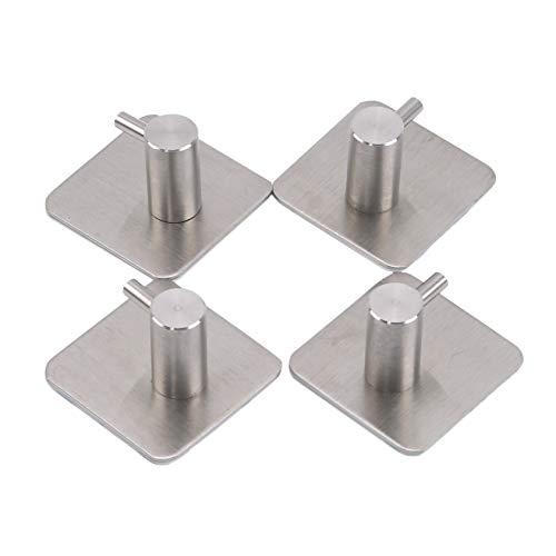 ZYYXB Ganchos autoadhesivos de acero inoxidable, ganchos de pared, ganchos de puerta, ganchos de comando, ganchos de alimentación, ganchos adhesivos para cocina, baños