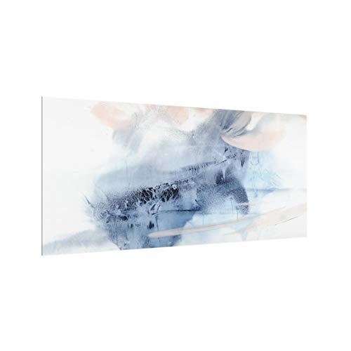 Bilderwelten Spritzschutz-Glas mit Aufhängung - Indigo & Rouge Querformat 40 x 80 cm