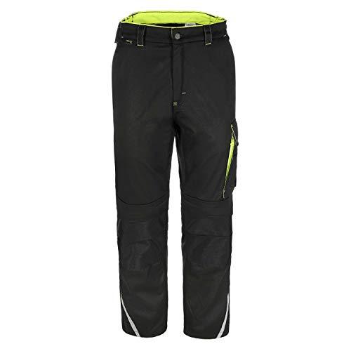 TMG® Finesse Lange Arbeitshose für Herren, Bundhose/Cargohose mit Kniepolstertaschen, Schwarz 52