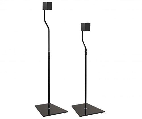 King Universal Freestanding Speaker Floor Stand, Pair, Black for Surround...
