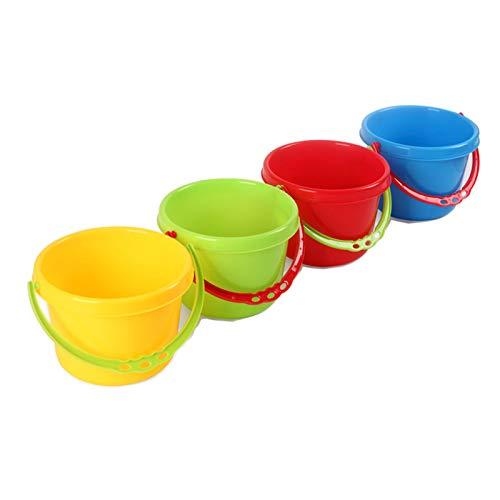 Juguetes De Playa Al Aire Libre, 4 Cubos De Plástico para Niños, Juguetes Acuáticos, Cubos Portátiles para Niños, Herramientas para Excavar Arena