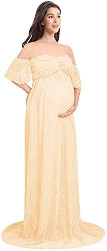 Maternidad Vestido De Maternidad Carmen Vestido De Encaje Vestido Tamaños Cómodos Hombros Libres Larga Ropa De Maternidad Vestido De Maternidad De Boda De Maternidad Fotografía Del Traje Del Vestido