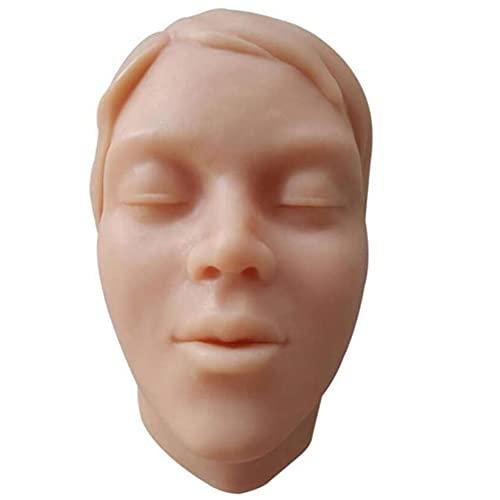 GAO-bo Modelos médicos y materiales educativos, modelo de inyección de piel, accesorios de enseñanza y enseñanza de micro-rectificación, cabeza humana de silicona, molde de cabeza de silicona de inyec