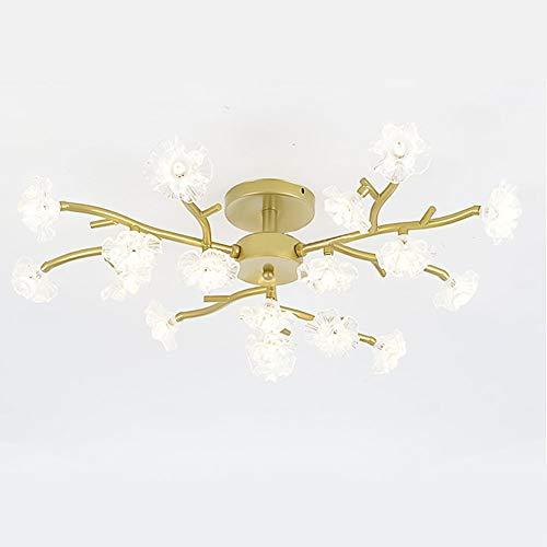 Cristal Lámpara De Araña Simple Modernas Lámpara Colgante Led Lámpara De Techo 10 Cabezas Lámpara Colgante Para Cocina Comedor Sala De Estar-Dorado 18 Cabeza
