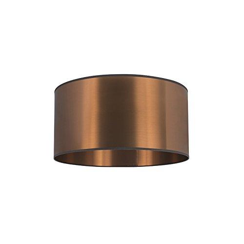 QAZQA Landhaus/Vintage/Rustikal/Modern Polyester Kunststoff Lampenschirm Kupfer 50/50/25, Rund gerade Schirm Pendelleuchte,Schirm Stehleuchte