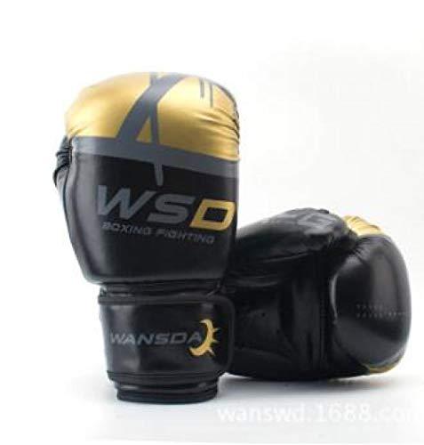 SHOUTAO 8OZ10OZ 12 OZ 6 OZ Großhandel Pretorian Muay Thai Zwillinge Boxen rote Boxhandschuhe TKD MMA Männer kämpfen gegen Boxhandschuhe@Schwarz_10 oz