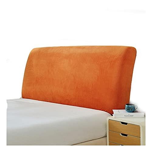 YXYH Cabeceros De Cama Funda Cover,Protector TejidoTerciopelo Suave,Protectora para Color Sólido, Elástica, A Prueba Polvo, Decoración Habitaciones (Color : Orange, Size : 200x215x65cm)