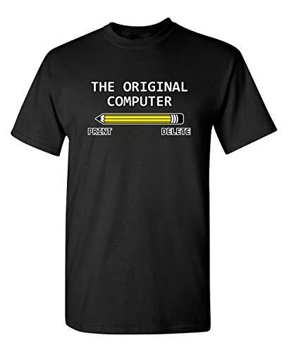 The Original Computer Graphic Novelty Sarcastic Funny T Shirt XL Black