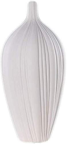 MWPO Decoración de jarrones Jarrón de cerámica Minimalista Moderno Flor Blanca Seca Arreglo de Flores Porcelana Piso de la Sala de Estar Decoración Creativa del hogar Adornos Contenedores de Plan