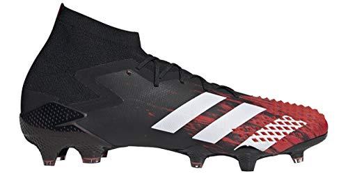 Adidas Predator Mutator 20.1 Fg Mens Firm Ground Calcio Cleats Ef1629, nero (nero/bianco/rosso attivo.), 42.5 EU