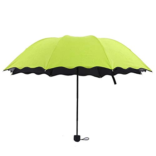 Magic UV Faltbarer Sonnen-/Regenschirm, winddicht, Blumendesign, für Damen, Outdoor-Reisen – 03,a1