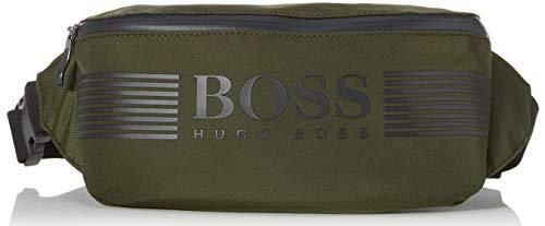 BOSS Herren Pixel_waist Bag Taschenorganizer, Grün (Dark Green), 8.5x16x30 cm