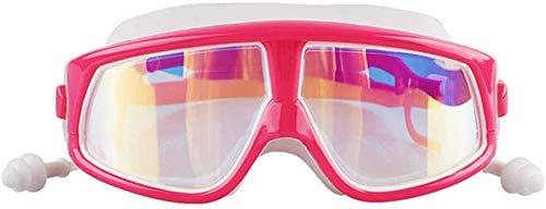 BBGSFDC Niños Gafas de natación contra la Niebla ningún escaparse, protección UV Cubierta Exterior Amplio Campo de visión Gafas de natación niños 6-14 (Color : D)