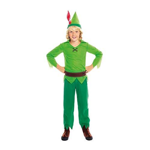 Disfraz Peter Pan NioTallas Infantiles de 3 a 12 aos(Talla 7-9 aos) | Disfraces Carnaval Cuentos Personajes Fantasa Nios
