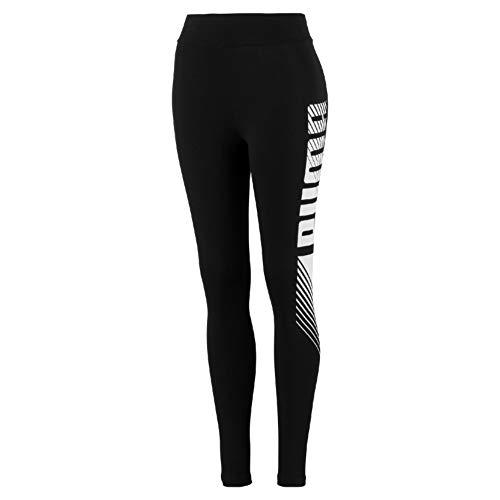 PUMA Damen ESS+ Graphic Leggings Black, XS