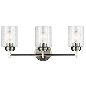 Kichler 45886NI Three Light Bath from The Winslow Collection, 3, Brushed Nickel