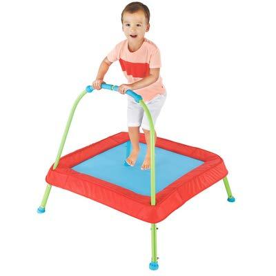 SHR-GCHAO Niños de 1 a 3 años Trampolín Cama de Rebote Interior con reposabrazos Cama de Salto para bebés Fitness para niños