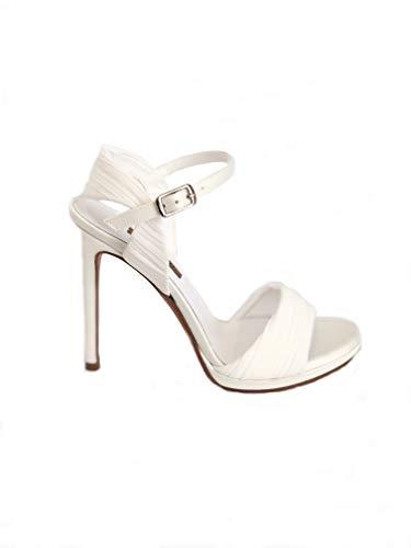 2142 - Sandalo Donna Albano Wedding in Raso Drappeggiato Tacco 11 cm (38 - Raso Sposa)