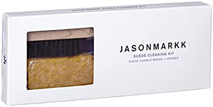 Jason Markk Suede Cleaning Kit - Horsehair Bristle Brush - Shoe Stain Eraser - Suede and Nubuck Cleaner - Dry Cleans Fabric and Dirty Midsoles - Effectively Removes Stubborn Dirt from Footwear