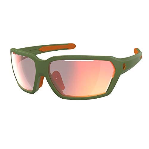 Scott Vector - Gafas deportivas para bicicleta, color verde y rojo