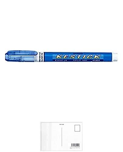 ゼブラ 修正ペン ケスティック1.0mm ライトブルー P-CA200-LB 【3本】 + 画材屋ドットコム ポストカードA