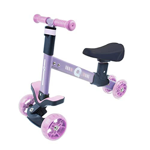 Calma Dragon Triciclo GDKWP02, Bicicleta sin Pedales para Niños, Correpasillos para Bebes, Bici para niños con Sillín Regulable, Ruedas con Luces Led (Púrpura)