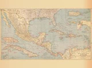Historical Nautical Chart 00-A-12-1939: CR, Mexico Central America The West Indies Year 1939