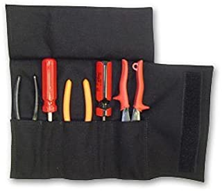 TheFireStore Firefighter 5 Pocket Nylon Tool Roll - Black
