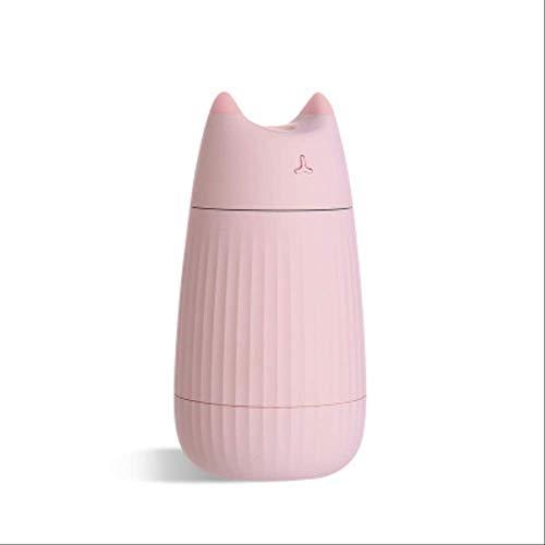 Humidificador Ambientador Humidificador De Aire Usb Cute Cat Difusor De Escritorio 200ml Purificador De Ambientador De Aire Para Coche Mini Difusor Portátil Con Luces Led Para El Hogar Rosado