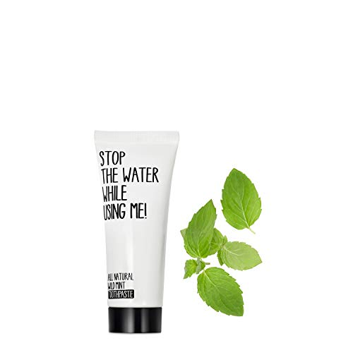 STOP THE WATER WHILE USING ME! All Natural Wild Mint Toothpaste (75ml), vegane Zahncreme mit Pfefferminz-Geschmack, beugt Karies vor und festigt das Zahnfleisch