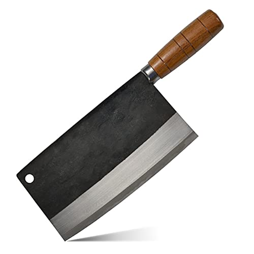 Xizdth Cuchillo Hecho a Mano Hecho a Mano Hecha forjada Cuchillo Chef Chef Cheador de Vegetales Cuchillo de Cocina de Acero al Carbono para cocinar (Color : TA 03)