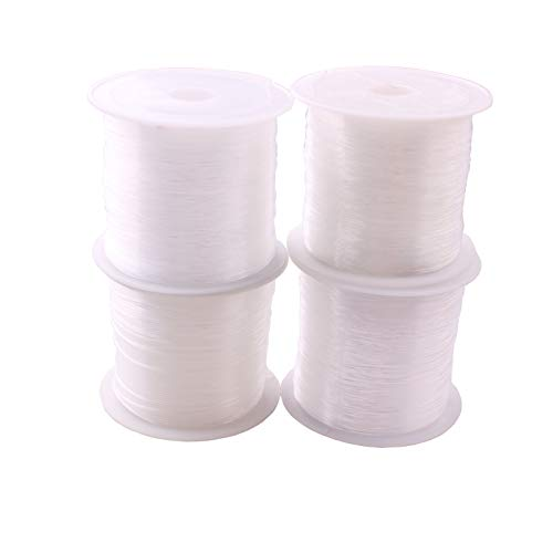 DIY Strong Elastic Stretch Crystal String Beading Thread Spool Cord Roll Set of 4 (Mixed -0.25/0.35/0.45/0.6)