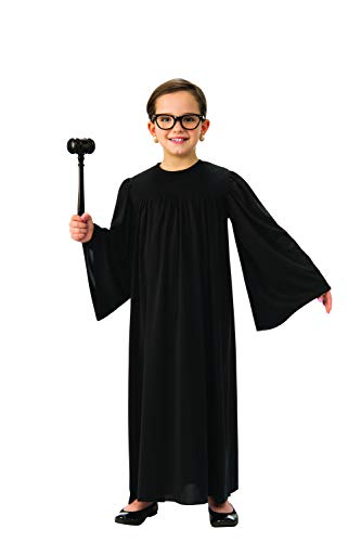 Judge Robe for Kids | Black Supreme Court Justice Robe (Medium)