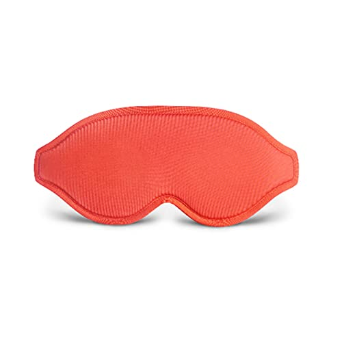 Máscara de dormir contorneada 3D, suave y transpirable, opaca, para viajes, siestas, yoga, avión, noche para mujeres y hombres, 1 pieza roja