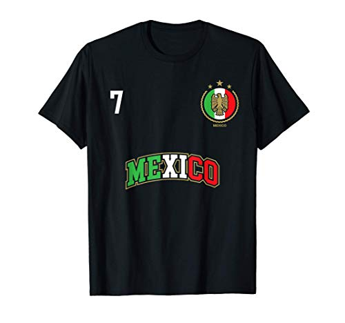 Equipo Deportivo Fútbol México No 7 Bandera mexicano Camiseta