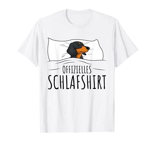 Offizielles Schlafshirt Schlafanzug Dackel Hund Geschenkidee T-Shirt