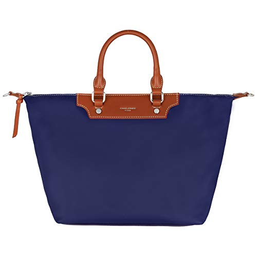 David Jones - Damen Tote Shopper Nylon Wasserdichte Handtasche - Tragetasche Schultertasche - Shopping Bag Große Kapazität - Umhängetasche Schultertasche - Elegant Mode Casual Arbeit Reise - Blau