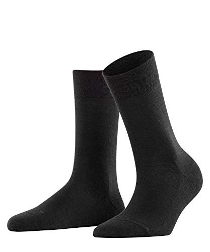 FALKE Damen Socken Sensitive Berlin - Merinowollmischung, 1 Paar, Schwarz (Black 3009), Größe: 39-42