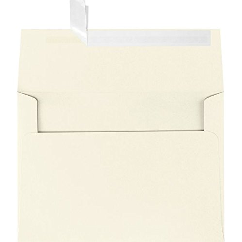 Price comparison product image LUXPaper A2 Invitation Envelopes in 80 lb. Natural - 100% Recycled for 4 1 / 4 x 5 1 / 2 Cards,  Square Flap Envelopes for Invitations w / Peel and Press,  250 Pack,  Envelope Size 4 3 / 8 x 5 3 / 4 (Off-White)