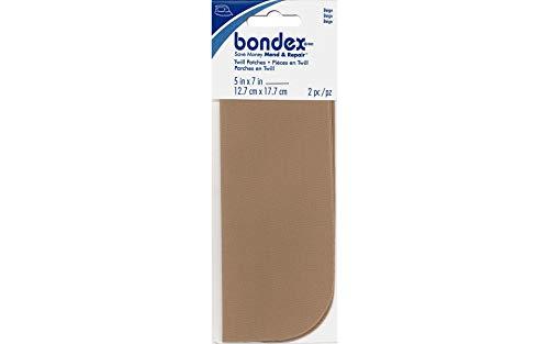 Bondex Iron-On Patches 5x7' 2/Pkg.-Beige