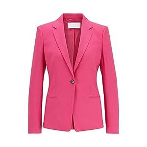 BOSS Damen Jalucia Regular-Fit Blazer aus nachverfolgbarer Stretch-Schurwolle