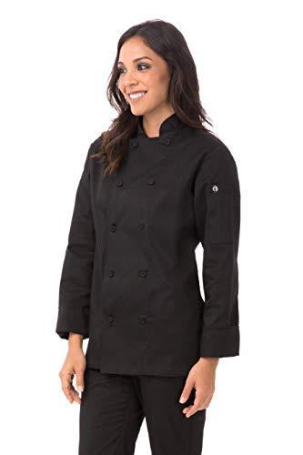 Chef Works Women's Marbella Chef Coat, Black, Large