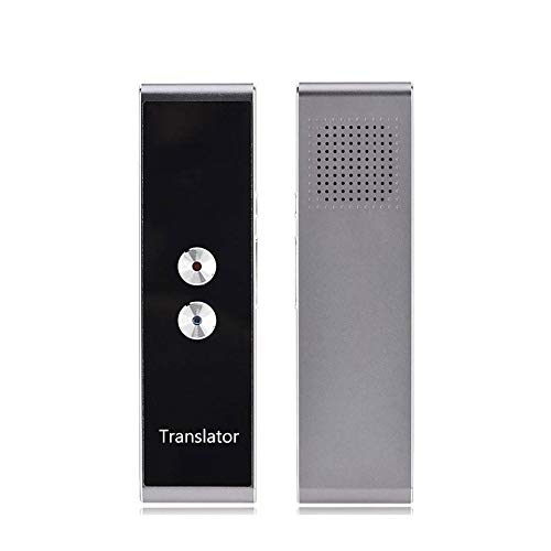 ZHANGQUANQUAN ZQ OPLK T8 Pocket Language Translator Voice 30 Languages Two Way Real Time Intercom Portable Translator for Personal Learning Travelling Black