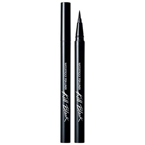 CLIO Waterproof Pen Liquid Eye Liner | Precision Tip, Long Lasting, Smudge-Resistant, High-Intensity Color (001 BLACK, Pack of 1)