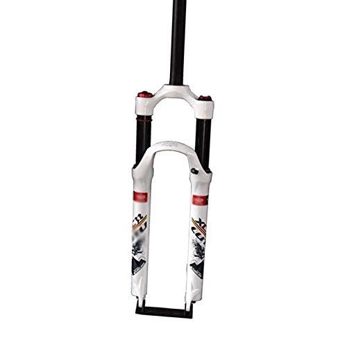 Horquilla de suspensión Ultraligera Mountain Bike Fork 26/27.5/29 Pulgadas Aleación de magnesio MTB Suspensión Tenedor Tiempo Travel 120mm Disc Freno Control de Hombro ABS Lock Accesorios para BIC