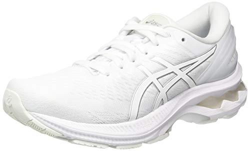 ASICS Gel-Kayano 27, Zapatillas de Running para Mujer, Color Blanco, 42.5 EU